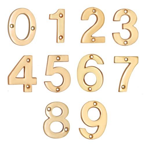 4 broad brass numerals
