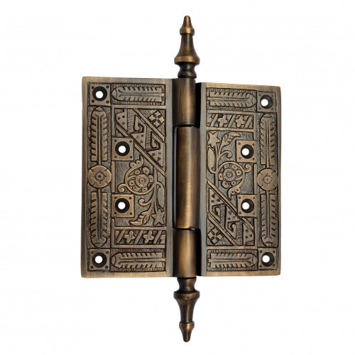 116mm x 111mm Brass Decorative Hinge