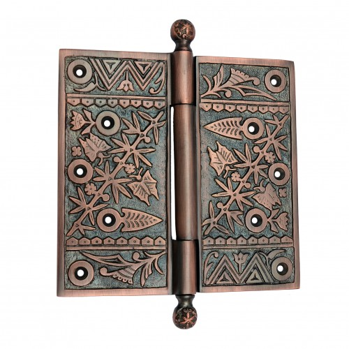 "6"" x 6"" Brass Decorative Hinge"