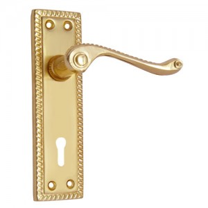 """Abel"" Iron Door Handle with Plate"