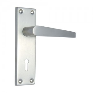 """Abiel"" Iron Door Handle with Plate"