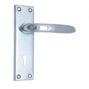 """Abimael"" Iron Door Handle with Plate"