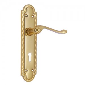 """Matthan"" Iron Door Handle with Plate"