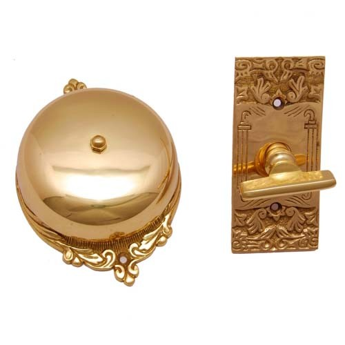 """Bartholomew"" Brass Manual Old Fashion Door Bell"