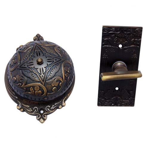 """Belshazzar"" Brass Manual Old Fashioned Door Bell"