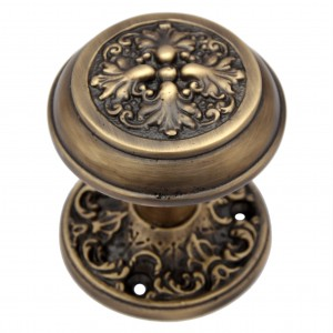 """Carshena"" Brass Door Knob with Rose"