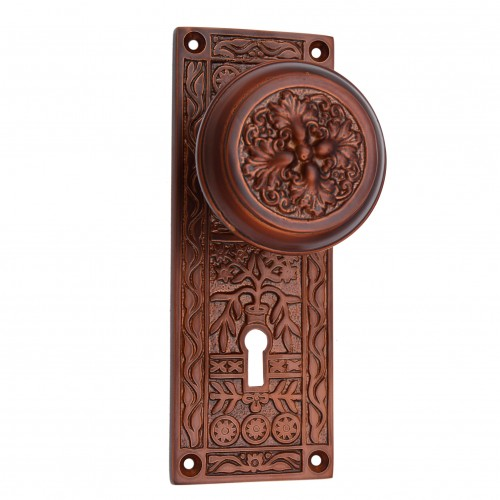 """Carshena"" Silicon Bronze Door Knob with Plate"