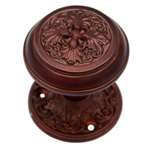 """Carshena"" Silicon Bronze Door Knob with Rose"