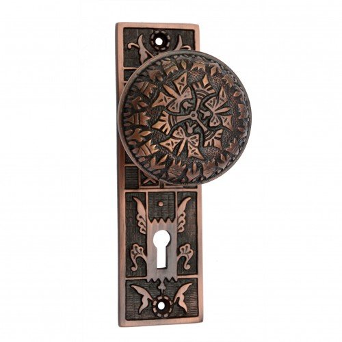 """Dabbasheth"" Brass Door Knob with Plate"