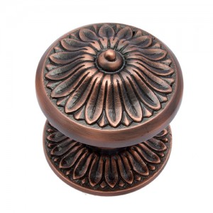 """Manoah"" Brass Door Knob with Rose"