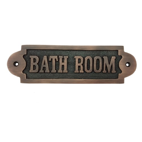 Rectangular Bathroom Brass Door Sign