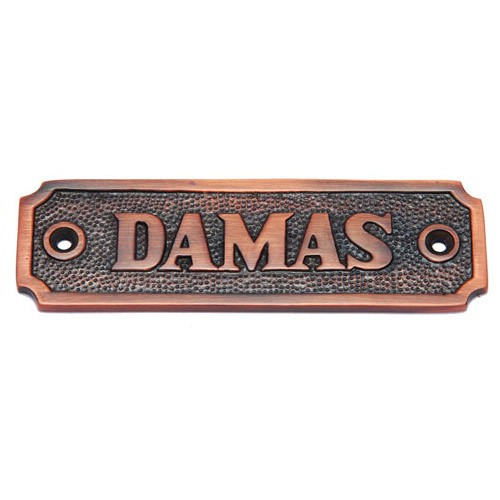 Damas Brass Door Sign