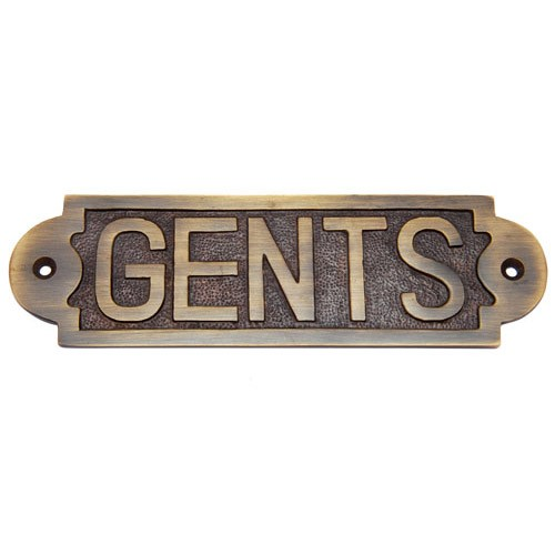 Gents Brass Door Sign