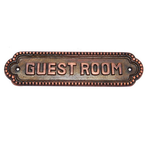 Guest Room Brass Door Sign