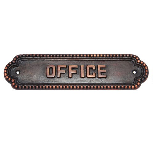 Large Office Brass Door Sign
