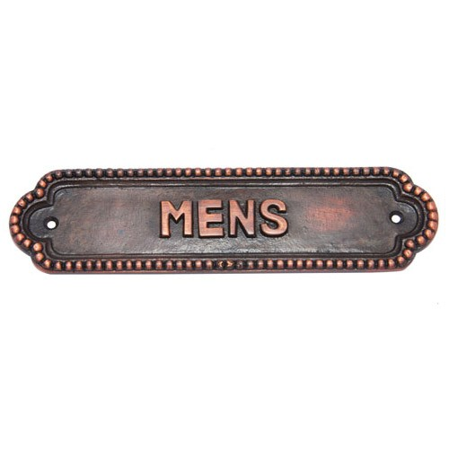Mens Brass Door Sign