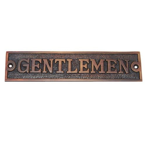 Rectangular Gentlemen Brass Door Sign