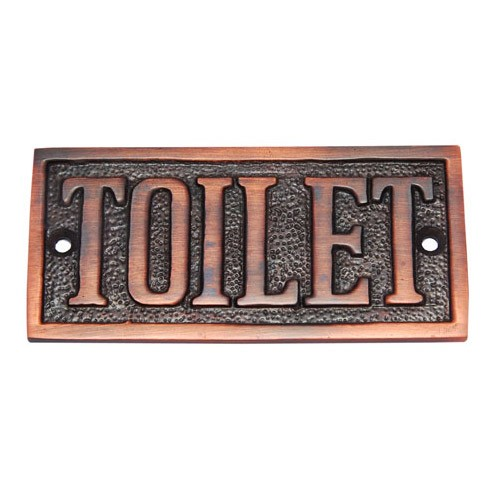 Rectangular Toilet Brass Door Sign