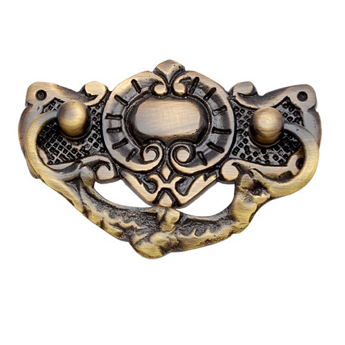 """Gibeah"" Brass Decorative Drop Pull"