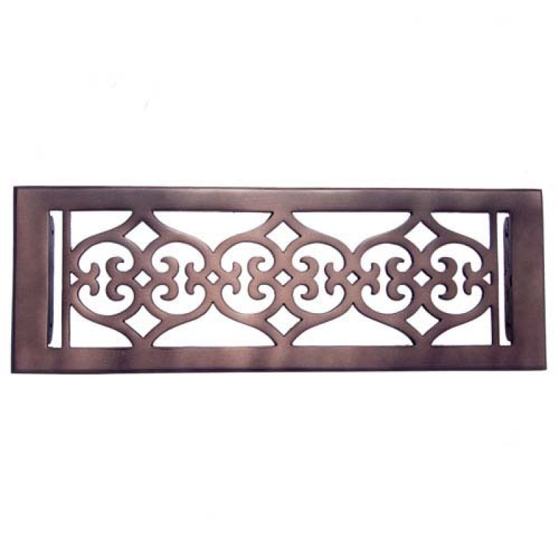 quality flower bronze wall register with louver 4 x