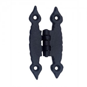 """Abib"" Black Antique Iron H Cabinet Hinge"