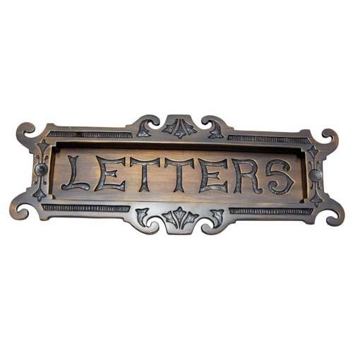 """Large Letters"" Brass Letter Plate"