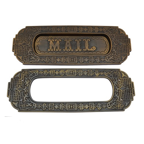 """Mail"" Brass Letter Plate"