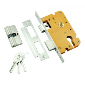 45.50mm SS Mortise Lock with Euro Profile or D/C Keyhole