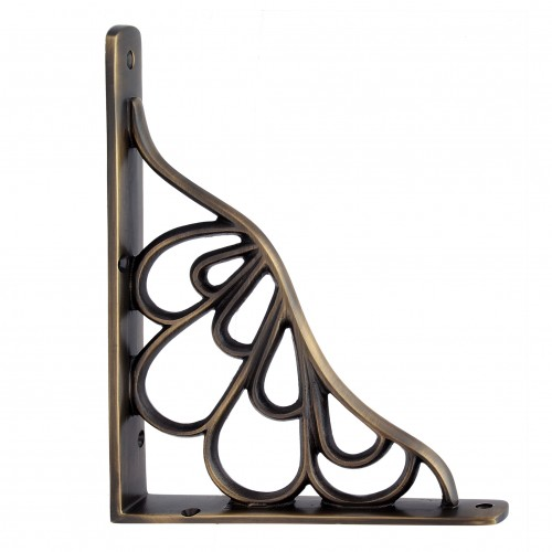 """Alvah"" Brass Shelf Bracket"