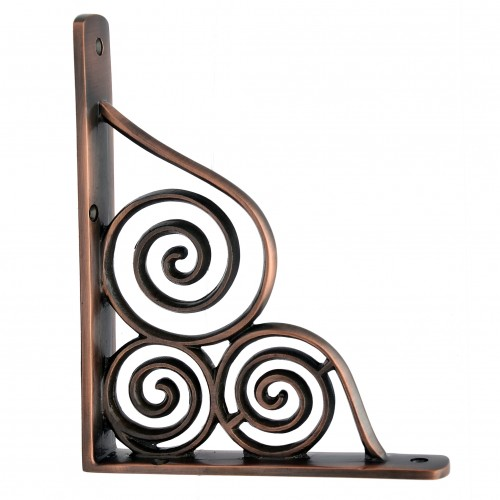 """Gilboa"" Brass Shelf Bracket"