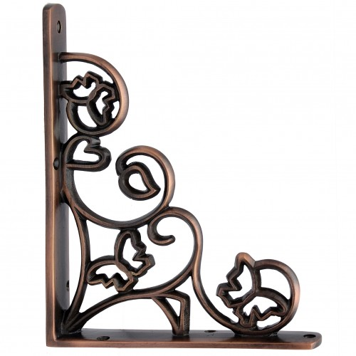 """Hallelujah"" Brass Shelf Bracket"