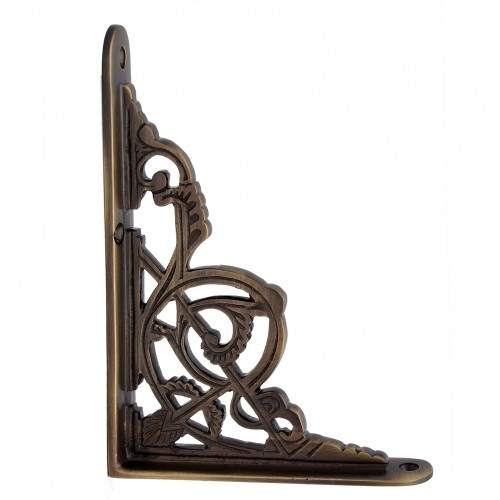 """Hanameel"" Brass Shelf Bracket"