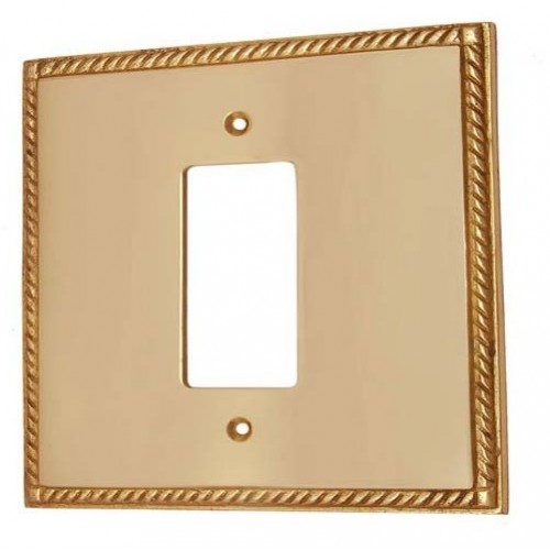 1 Decora Brass Georgian Switch Plate
