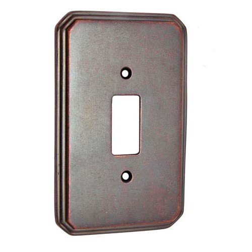 1 Small Decora Brass Border Switch Plate