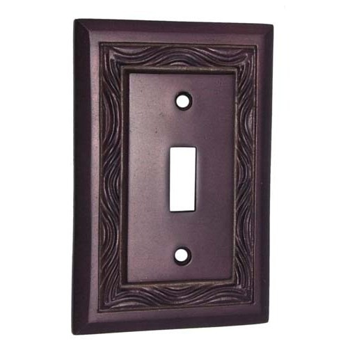 1 Toggle Rope Brass Switch Plate