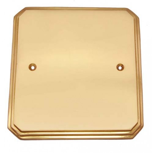 Border Brass Switch Plate without Cutout