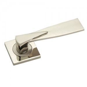 """Gideon"" Zinc Handle with Rose"