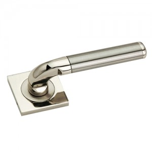 """Girgashite"" Zinc Handle with Rose"