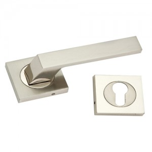 """Hali"" Zinc Handle with Rose"