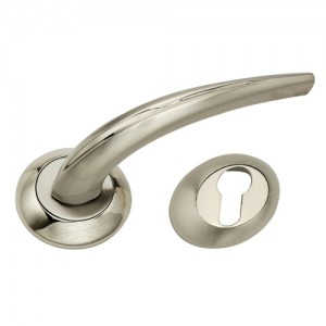 """Jathniel"" Zinc Handle with Rose"