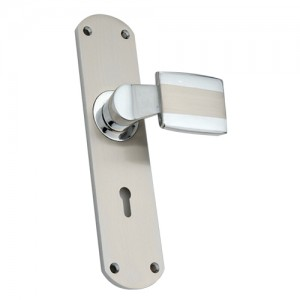 """Bajith"" Zinc Handle with Back Plate"