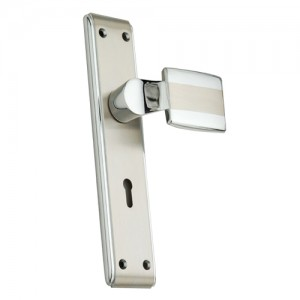"""Bamah"" Zinc Handle with Back Plate"