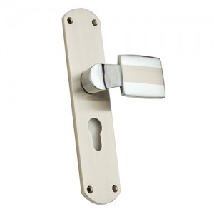"""Barjesus"" Zinc Handle with Back Plate"