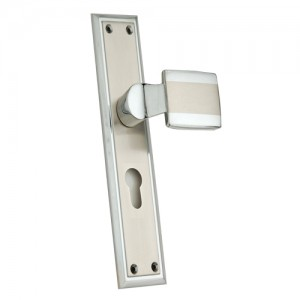"""Bethemek"" Zinc Handle with Back Plate"