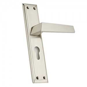 """Carcas"" Zinc Handle with Back Plate"
