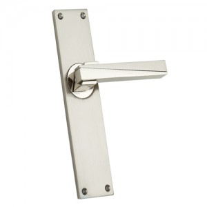 """Daniel"" Zinc Handle with Back Plate"