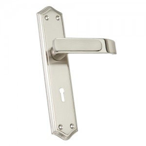 """Ibhar"" Zinc Handle with Back Plate"