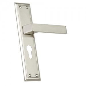 """Iddo"" Zinc Handle with Back Plate"