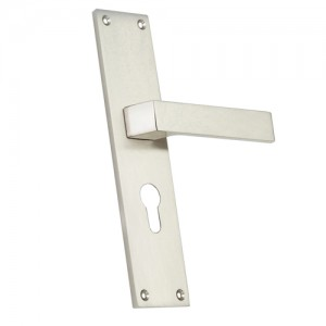 """Iim"" Zinc Handle with Back Plate"