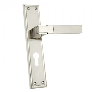 """Laadah"" Zinc Handle with Back Plate"